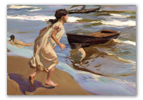 Girl Going to Bathe