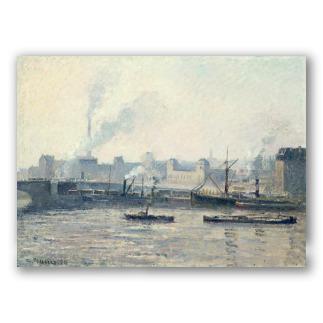 The Saint-Sever Bridge, Rouen: Fog