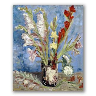 Vase with Gladioli